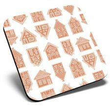 Square Single Coaster - Gingerbread Houses Christmas  #21590