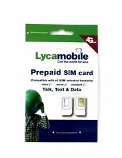 LycaMobile Prepaid Micro/Nano Sim Card Preloaded w/ $23 Plan Free 1st One Month