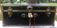 Used Mercury Seward Black/Brass storage trunk chest