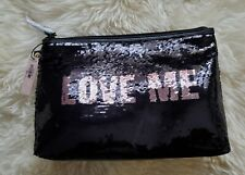 Victorias Secret Sequin Cosmetic travel Bag Pouch