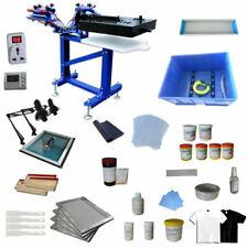 Hot 3 Color 1 Station Silk Screen Printing Kit Exposure Press Ink Amp Flash Dryer