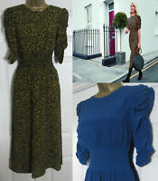 NEW M&S Holly Willoughby Womens Animal or Teal Waisted Midi Tea Dress Size 8-22