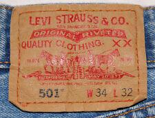 Levi's 501 Blue Jeans-34wx32l-Men's