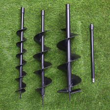 More details for 3 ground drill bits+extension pole for petrol earth auger fence post hole borer