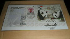Malaysia2015 psm fdc world stamp exhibition singapore panda overprint ms
