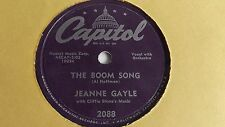 Jeanne Gayle - 78rpm single 10-inch – Capitol #2088 with Cliffie Stone