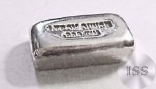 Fine .999 Tin Troy Oz Bar, Hand Poured & Stamped Uniquely Crafted Metal Bullion