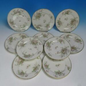 Theodore Haviland Limoges - Apple Blossom - 10 Salad or Dessert Plates - 7½ inch