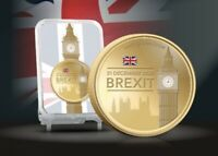 Brexit Gold Plated Commemorative Coin/medal-Britain Leaving EU Limited To 495