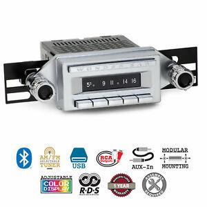 1958-65 Buick Chevrolet Studebaker Wonder Bar 3 Radio AM/FM Bluetooth USB Stereo