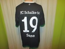 "FC Schalke 04 Adidas Ausweich Trikot 2015/16 ""GAZPROM"" + Nr.19 Sane Gr.XL TOP"