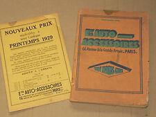 Catalogue Auto Accessoires  1929   Outils phare bougie moto  auto moteur motor