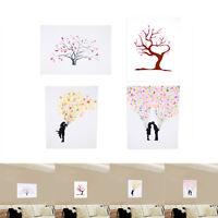 Canvas Wedding Tree Fingerprint Signature Guest Book DIY Decor Party Baby Shower