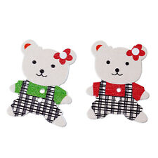 5 bois mixte Teddy Bear in dungarees Sewing Craft Boutons 3.5 cm,