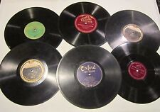 "Lot of 6- 78 rpm 10"" records - Brunswick- RCA Victor- Columbia- Victrola- Oxford"
