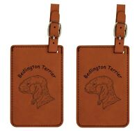 L1584 Bedlington Terrier Head Luggage Tags 2Pk FREE SHIPPING 200 Breed Available