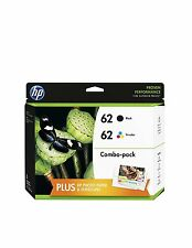 HP 62 Black & Tri-Color Original Ink Cartridges with Photo Paper, 2 pack