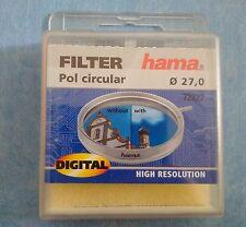 HAMA Filtre Photo vidéo Circular Polarizer Polarisant Circulaire Diamètre 27 mm