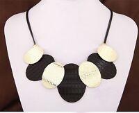Vintage Retro Women Fashion Choker Chain Pendant Statement Collar Bib Necklace