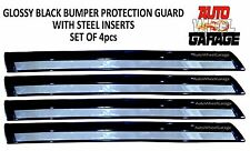 Bumper Protection Guard for Volkswagen Polo-Glossy Black-Steel Insert