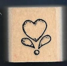 HEART MOTIF Love Design gift tag Stampin' Up! Envelope Seal wood RUBBER STAMP