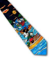 Novelty men's Disney tie Mickey Mouse & Donald Duck & Goofy fishing