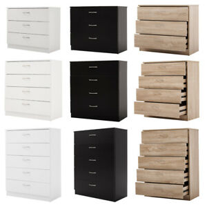 Chest of Drawers White Bedroom Furniture Hallway Tall Wide Storage 3/4/5 Draw UK