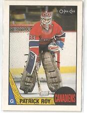1987-88 O-Pee-Chee Hockey Patrick Roy Card # 163 Near Mint