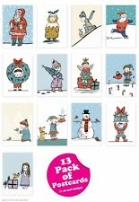 Christmas Xmas Postcards Multipack of 13 Funny Comedy Cute Cheeky Humour