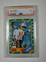 1986 Jerry Rice Topps #161 Rookie RC Football Card PSA 9 graded MINT 9