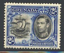 GRENADA 140 SG161 MH 1938 2sh KGVI Colony Seal Perf 12&1/2 Cat$25