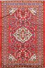 Vintage Floral Lilihan Wool Area Rug Traditional Hand-Made Oriental Carpet 4'x5'