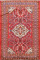 Vintage Floral Lilihan Wool Area Rug Traditional Hand-Made Oriental Carpet 4'x5'