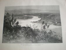 The Endeavour River North Queensland 1890 old print