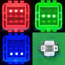 10W RGB Rojo Verde Azul Completo Color De Alta Potencia LED Lámpara Bombilla Spot 10 watt Hágalo usted mismo