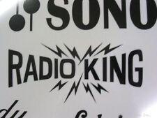Radio King Black 30's Bolt Vintage Logo Sticker/Decal (Hi Quality 3M Vinyl
