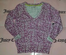 Juicy Couture Cotton pullover sweater Cheetah print Small new