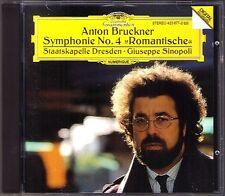 Giuseppe Sinopoli: Bruckner Symphony No. 4 Romantic CD état Chapelle Dresde DG