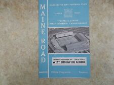 Manchester City v West Bromwich Albion     25th March 1967     Division 1