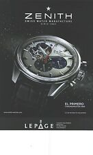 PUBLICITE ADVERTISING 2012 ZENITH la montre chronomaster 1969             251212