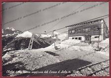 BRESCIA PONTE DI LEGNO 39 CORNO D'AOLA - SEGGIOVIA Cartolina FOTOGR. viagg. 1961