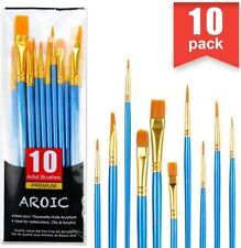10Pcs Kit Artist Painting Brushes Set Watercolour Acrylic Oil Face Paint Craft