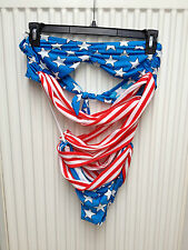 Jeremy Scott for Adidas Stars & Stripes Woman's Swim Suit Size Large