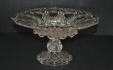 EAPG U.S GLASS NEW JERSEY PATTERN PEDESTAL SHALLOW FOOTED BOWL
