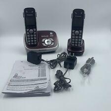 Panasonic KX-TG6572R Dect 6.0 Plus Expandable Cordless Phone - 2 Handsets