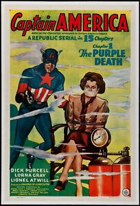 Vintage Comic Art Poster - Captain America Comic