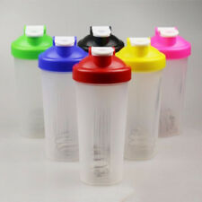 Free Shake Protein Shaker Mixer Drink Whisk Bottle Cup Ball 8Colors 400/600ml