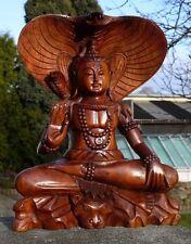 NEU EDEL BUDDHA Shiva Cobra Meditation HOLZ BUDDA