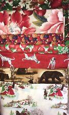 New listing Big Block Quilt Kit Fabrics - Christmas, strawberries & others