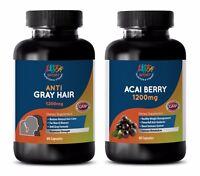 anti aging oil - ANTI-GRAY HAIR – ACAI BERRY COMBO 2B - saw palmetto biotin